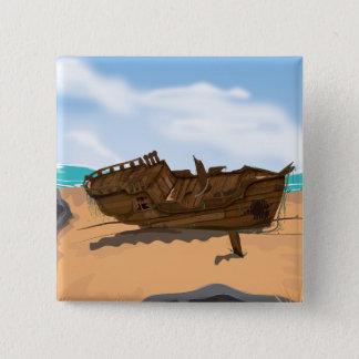 Beached Shipwreck Button