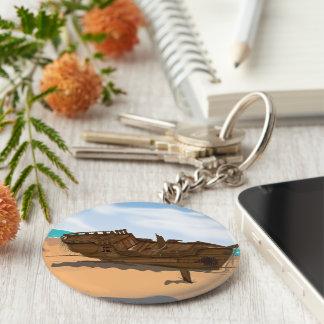 Beached Shipwreck Keychain