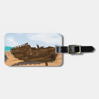 Beached Shipwreck Tags For Luggage