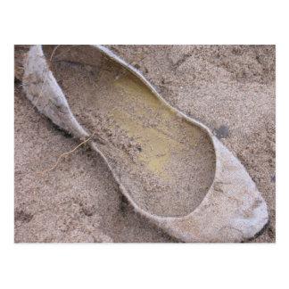 Beached Shoe Postcard