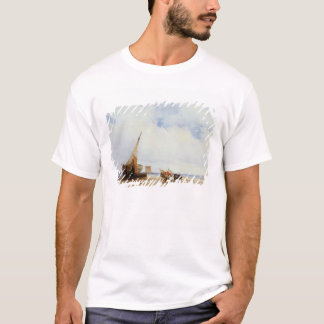 Beached Vessels and a Wagon near Trouville, c.1825 T-Shirt