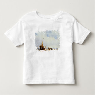 Beached Vessels and a Wagon near Trouville, c.1825 Tee Shirt