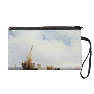 Beached Vessels and a Wagon near Trouville, c.1825 Wristlet Purse