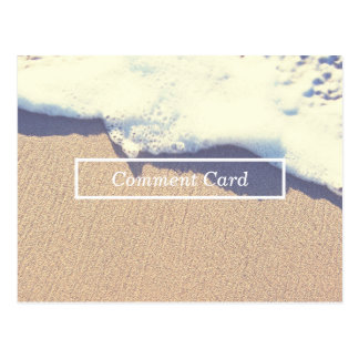 beached wave comment card