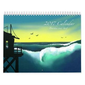 Beaches and Surf 2017 Art Calendar