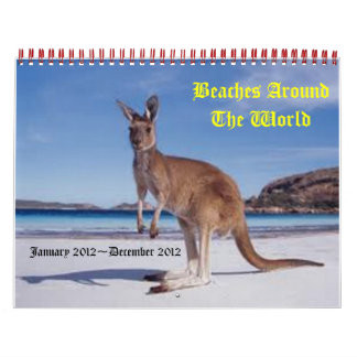 beaches around the world calendar