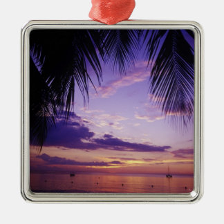 Beaches at Negril, Jamaica 2 Metal Ornament