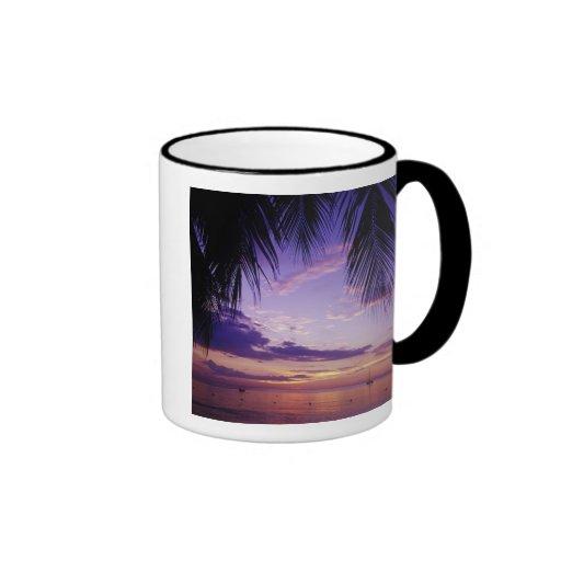 Beaches at Negril, Jamaica 2 Ringer Coffee Mug