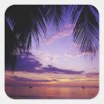 Beaches at Negril, Jamaica 2 Square Sticker