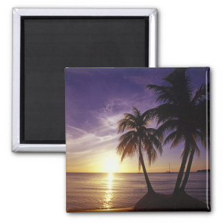 Beaches at Negril, Jamaica 3 2 Inch Square Magnet