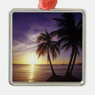 Beaches at Negril, Jamaica 3 Metal Ornament