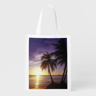 Beaches at Negril Jamaica 3 Reusable Grocery Bags