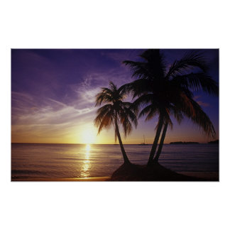 Beaches at Negril, Jamaica Poster