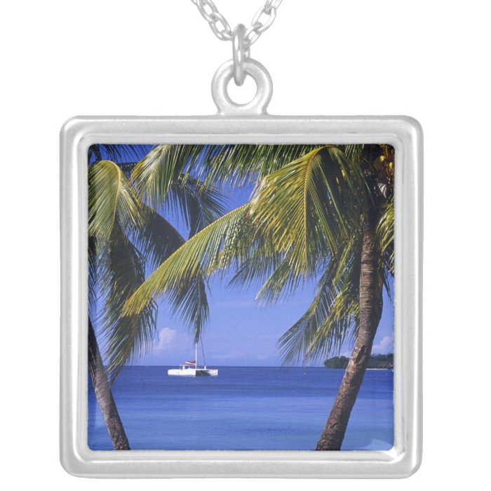 Beaches at Negril, Jamaica Silver Plated Necklace