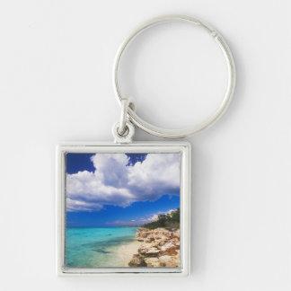 Beaches, Barahona, Dominican Republic, 2 Keychain