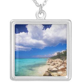 Beaches, Barahona, Dominican Republic, 2 Silver Plated Necklace