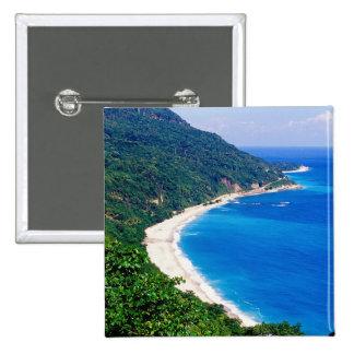Beaches, Barahona, Dominican Republic, Pinback Buttons