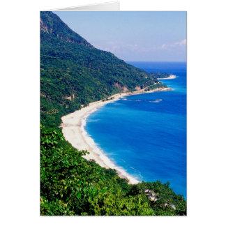 Beaches, Barahona, Dominican Republic, Card