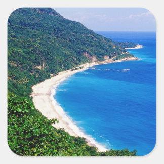Beaches, Barahona, Dominican Republic, Square Sticker