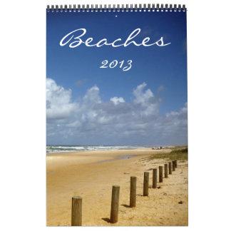 beaches calendar 2013