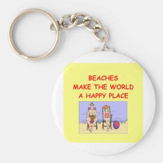 beaches key chain
