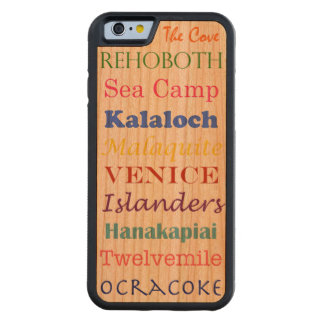 beaches list word multi vacation summer colorful carved cherry iPhone 6 bumper case