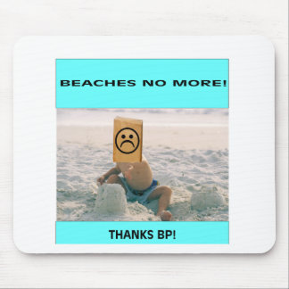 Beaches No More Mouse Pads
