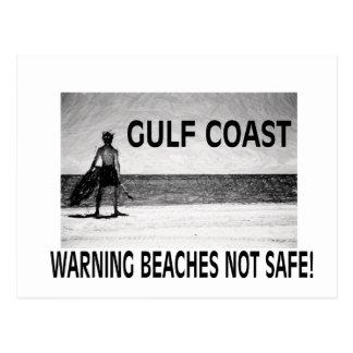 BEACHES NOT SAFE POSTCARD