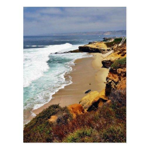 Beaches Ocean Cliffs La Jolla Postcards