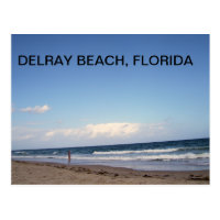 BEACHES OF DELRAY BEACH POSTCARD