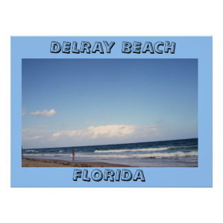 BEACHES OF DELRAY BEACH POSTER