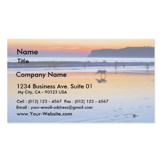 Beaches Point Loma Sunsets Business Card Template