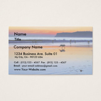 Beaches Point Loma Sunsets Business Card