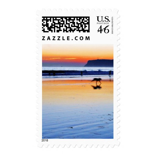 Beaches Point Loma Sunsets Postage Stamps