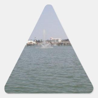 beachfall.JPG Pegatina Triangular