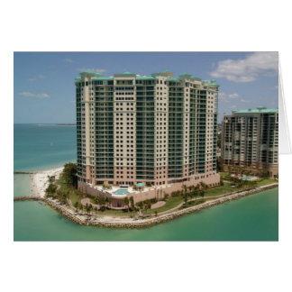 Beachfront Hotel, Marco Island, Florida, 2004 Greeting Card