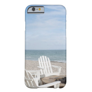 beachfront house with adirondack chairs and barely there iPhone 6 case