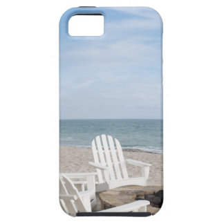 beachfront house with adirondack chairs and iPhone 5 cover