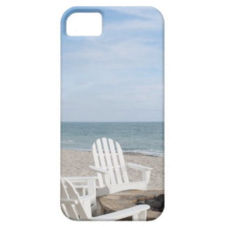 beachfront house with adirondack chairs and iPhone SE/5/5s case