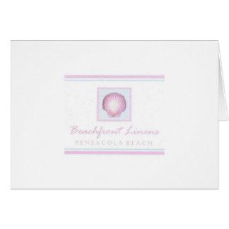 beachfront linens greeting card