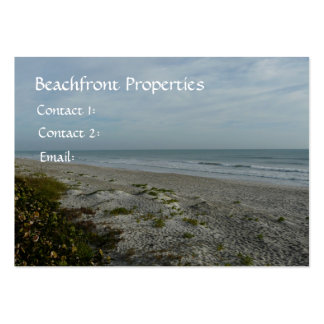 Beachfront Properties/Real Estate Large Business Card