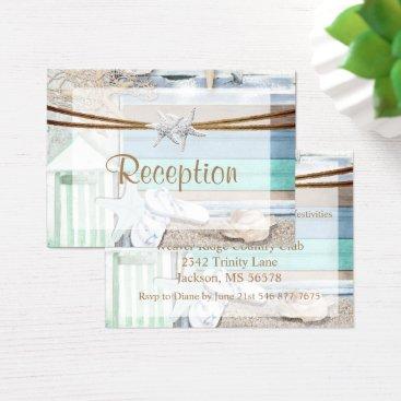 Beach Themed Beachfront Wedding Business Card