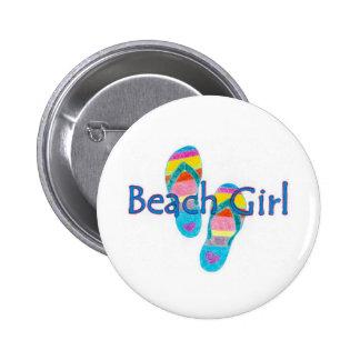 beachgirl 2 inch round button
