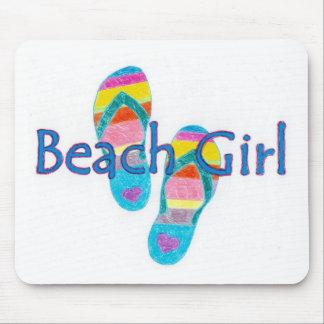 beachgirl alfombrilla de ratones