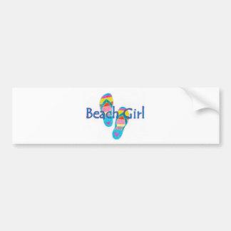 beachgirl car bumper sticker