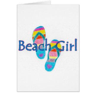 beachgirl greeting card