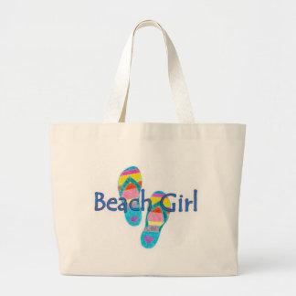 beachgirl jumbo tote bag