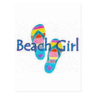 beachgirl postcard
