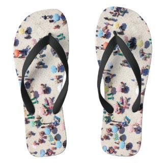 Beachgoers Flip Flops