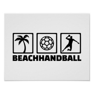 Beachhandball Poster